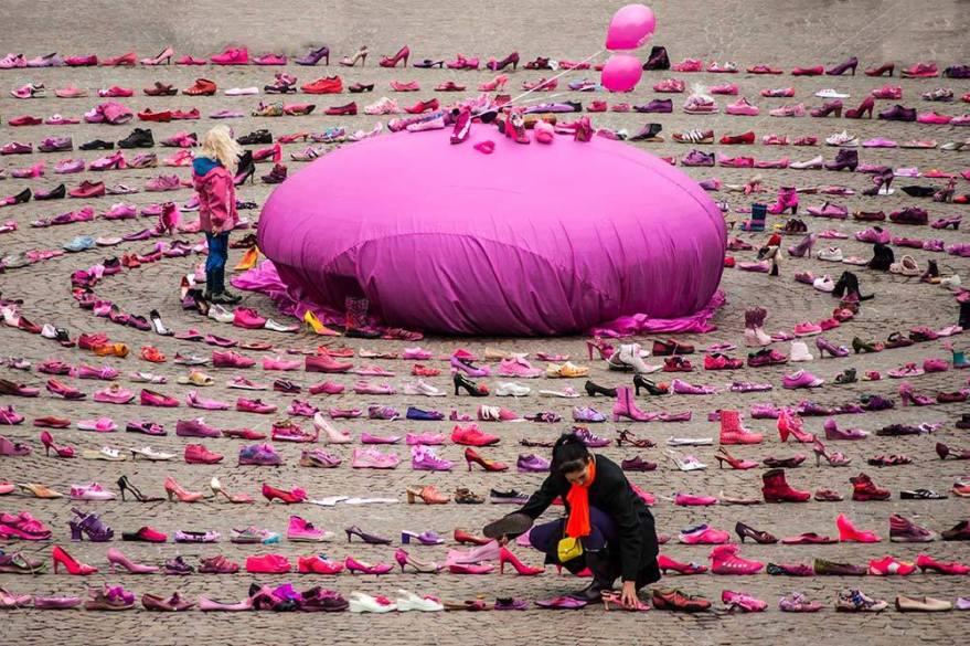 Pink Shoe Day Spiral